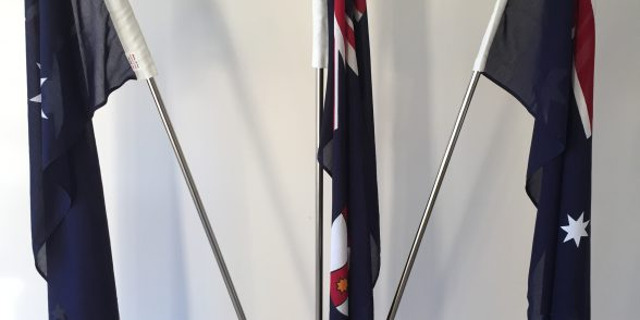 triple portable flagpole