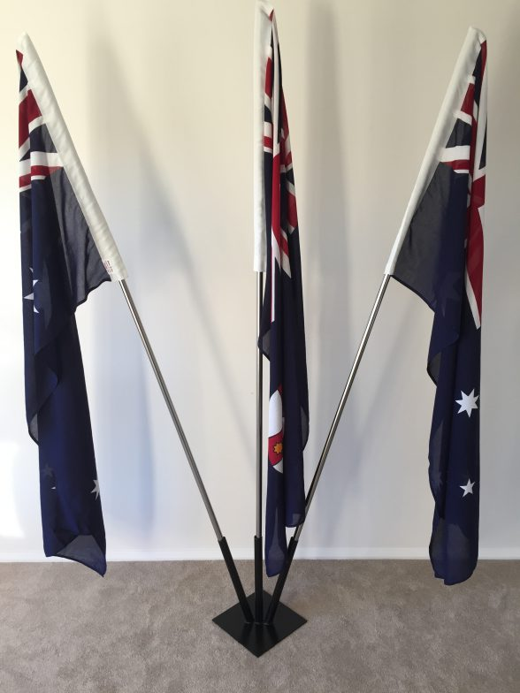 triple portable flagpole